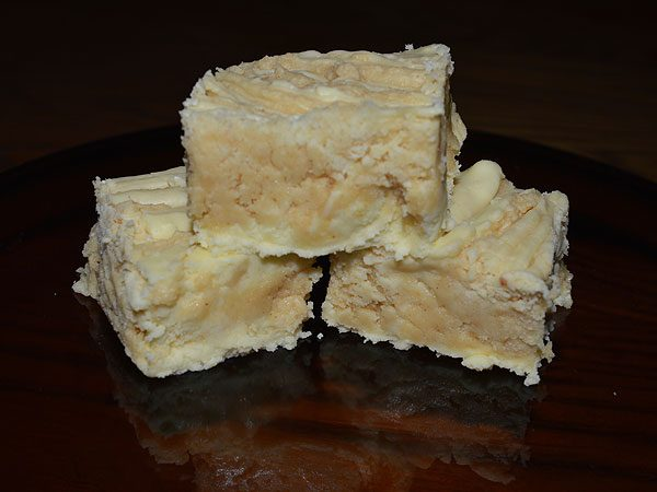 Creamy Banana and Peanut Butter Fudge